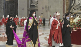 Did the Patriarch of Antioch pray with the Pope?