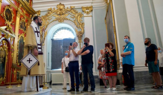 Exarch of the Phanar in Ukraine celebrated the Liturgy at St. Andrew's Church