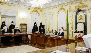 Patriarch Kirill chairs a meeting of the Holy Synod of the Russian Orthodox Church
